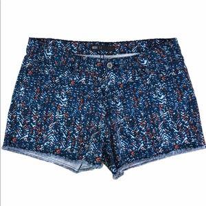 Levi's printed cutoff jean shorts; chevron design